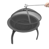 Portable Foldable Outdoor Fire Pit Fireplace 30 Inch - HomeSimplicity