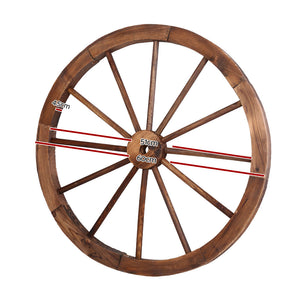 Gardeon Wooden Wagon Wheel measurements