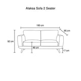 Alaska Three Seater Sofa
