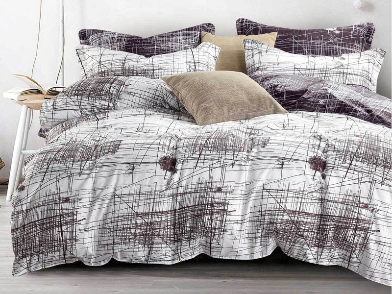 Langley Art Line Queen Quilt Cover Set
