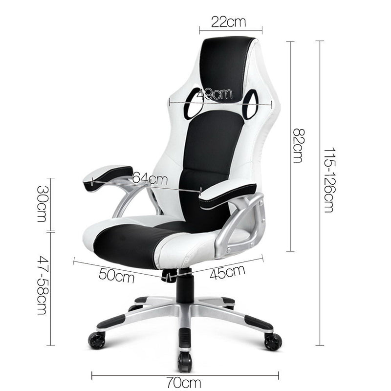 Zebra Racing Style Office Chair measurements