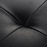 Cedric 3 Seater PU Leather Sofa Bed detail close up