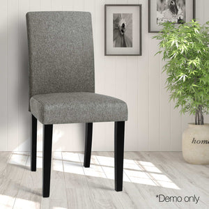 Zion Fabric Dining Chairs (Set of 2) demo picture