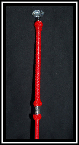Red Leather Show Cane