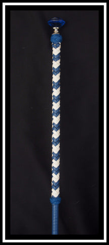 Royal Blue & White SHow Cane