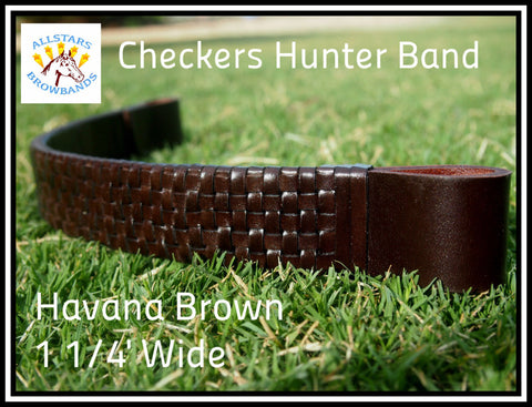 Havana Brown Hunter band 1 1/4' Wide