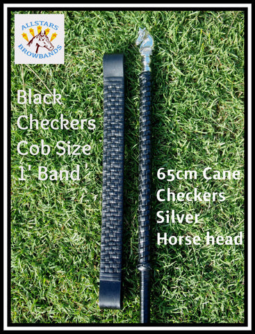 Checkers Browband & Checkers Cane Set