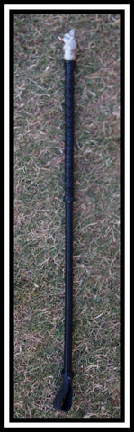 Black Leather Checkers design hunter cane