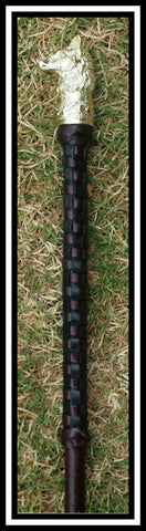Black & Brown Checkers design Hunter Cane