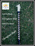 Black and Gold Herringbone Braid Show Cane