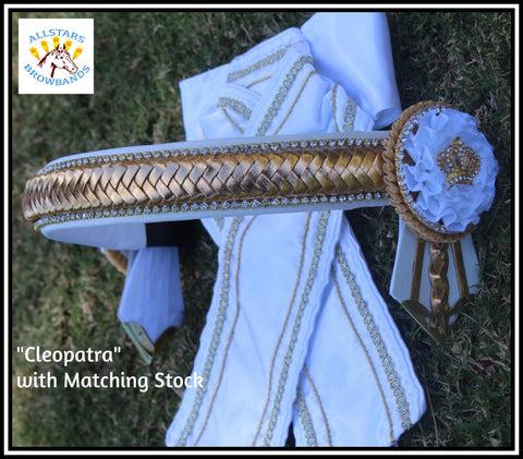 Cleopatra Browband and Stock Set Full Size