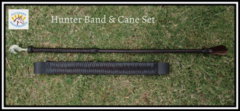 Havana Brown Hunter band and cane set  instock and ready to go