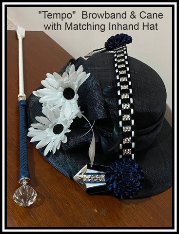 Tempo Browband and cane set, Matching Hat