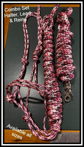Burgundy Pink and white Appaloosa Combo Set