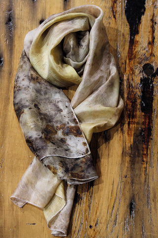 #RR1729, Large Leaf and Pine Scarf