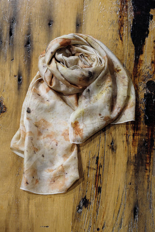 #RR1759, Eucalyptus, Onion Skin and Rust Scarf