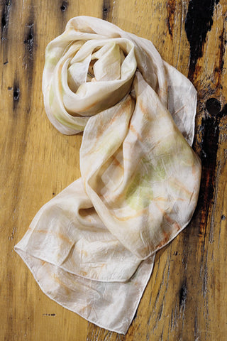 #RR1762, Eucalyptus and Rose Leaf Scarf