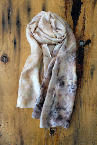 #RR1735, Rose Leaves, Petals and Onion Skin Scarf