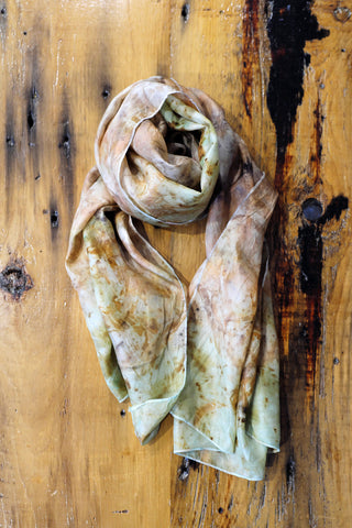#RR1749. Eucalyptus, Rust Bits and Copper Scarf
