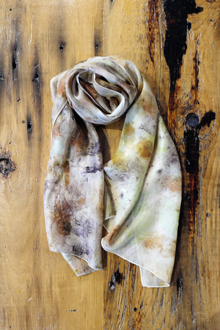 #RR1736, Leaf, Petal and Copper Scarf