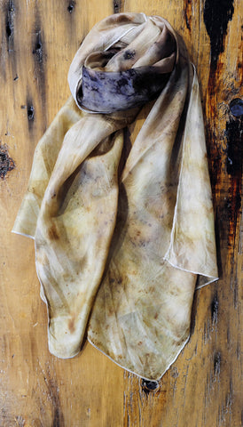#RR1738, Leaf and Onion Skin Scarf