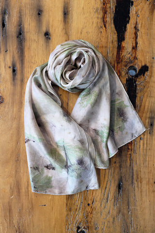 Green Maple Leaf Scarf