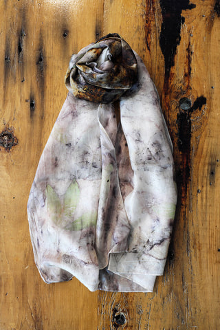 Large Leaf and Rust Scarf