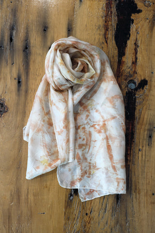 #RR1707 Eucalyptus Leaf and Onion Skin Scarf