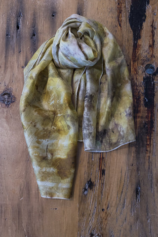 #RR1747, Rose Leaf and Onion Skin Scarf