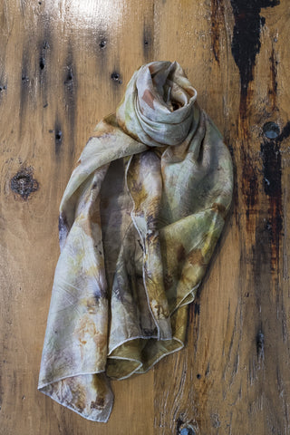 #RR1751, Sumac and Onion Skin Scarf