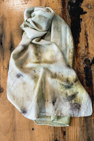 #RR1766, Elm Leaf and Rust Scarf