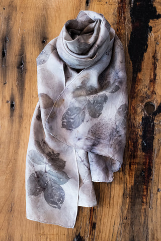 #RR1769, Rose Leaf and Rust Scarf