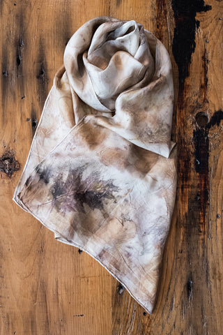 #RR1765, Ash Leaf, Oak Leaf, Onion Skin and Rust Scarf