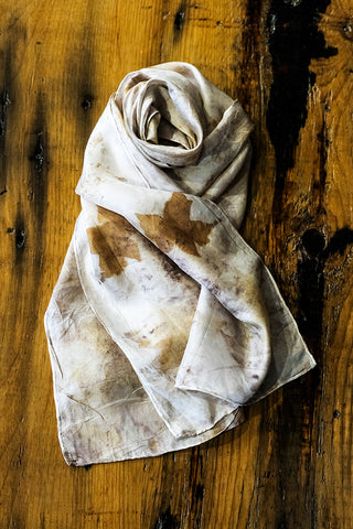 #RR1788, Maple and Oak Leaf Scarf