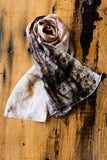 #RR1761, Eucalyptus, Petals and Steel Scarf