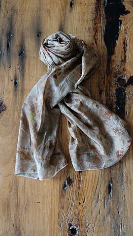 #RR1796, Onion Skin and Rose Petal Scarf