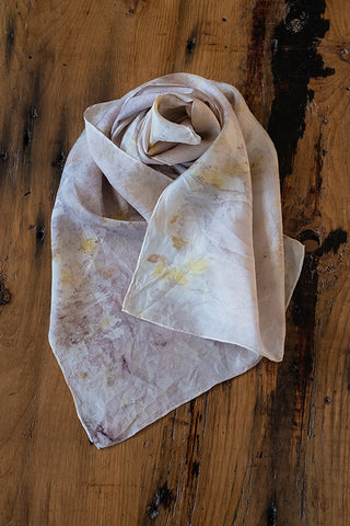 #RR1771, Sumac Leaf and Onion Skin Scarf