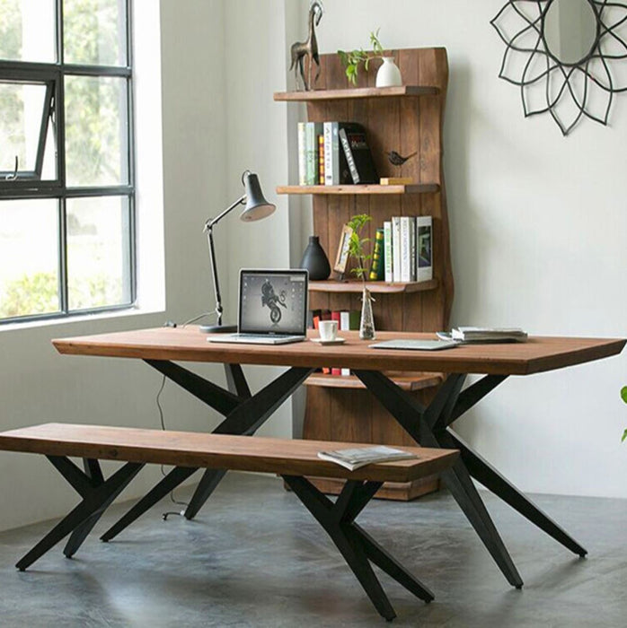 SCARLETT Modern Rustic Dining Table