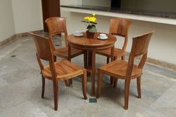 Outdoor Round Table and 4 Curve Back Chairs Set ( Special Package ) TEK168INX TABLE 80 and 4 CURVE BACK CHAIR SET