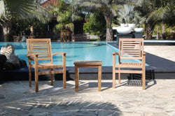 Outdoor Small Table and 2 Stacking Chair TEK168INX SMALL TABLE and 2 STACK CHAIR SET