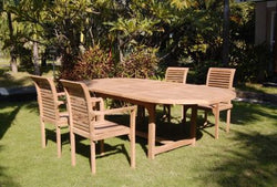 Outdoor 160 - 200 Extension Table and 4 Stacking Chair TEK168INX EXT TABLE and 4 STACK CHAIR SET