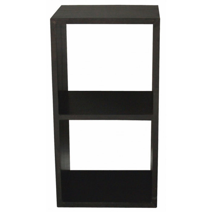 Minimalist Teak Bookcase Display 2 Cube 2 Shelves Bookcase TEK168 CU 002 RPN ( White Colour )