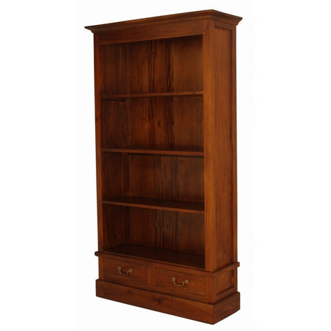 Member Special - Tasmania Bookcase 4 Shelves 2 Drawers Book Cabinet CB110DM Colour TEK168 BC 002 PN ( Picture and Colour for Reference Only )