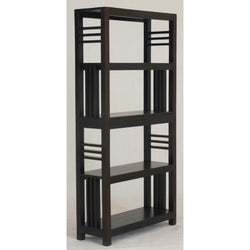 01 Member Special - Amsterdam Bookcase Display 4 Shelves 2 Drawers Book Cabinet TEK168BC 002 SLO ( Chocolate Colour )