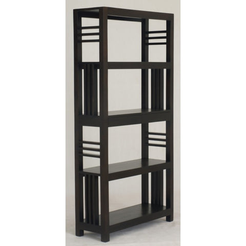 Amsterdam Bookcase Display 4 Shelves 2 Drawers Book Cabinet Chocolate Colour TEK168 BC 002 SLO