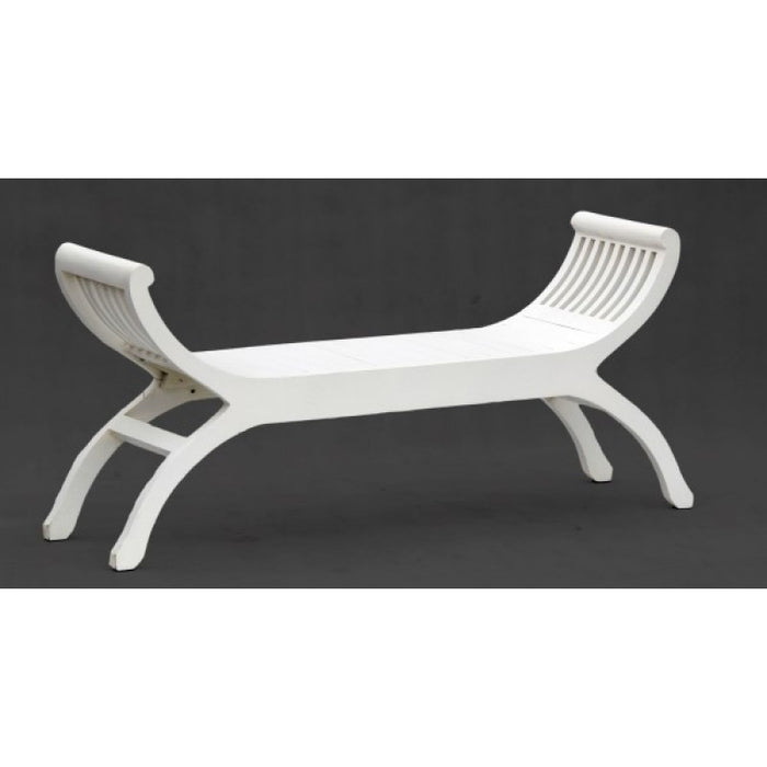Signature Bench 2 Seater YuYu Chair TEK168 CH 002 TW ( White Colour ) ( Picture Illustration Colour for Reference Only )