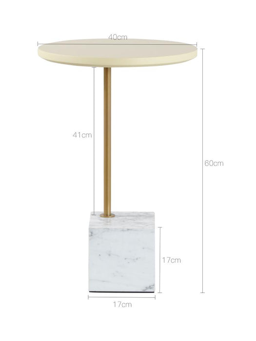 ALICE Minimalist Marble Cube Side Table
