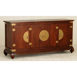 Chinese Oriental Buffet Sideboard 4 Big Doors Mahogany Colour TEK168  SB 400 CSNF