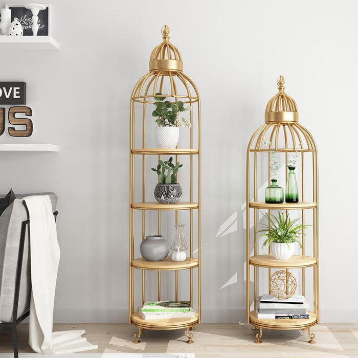 ADORJAN Quirky Bird Cage Display Stand / Cabinet