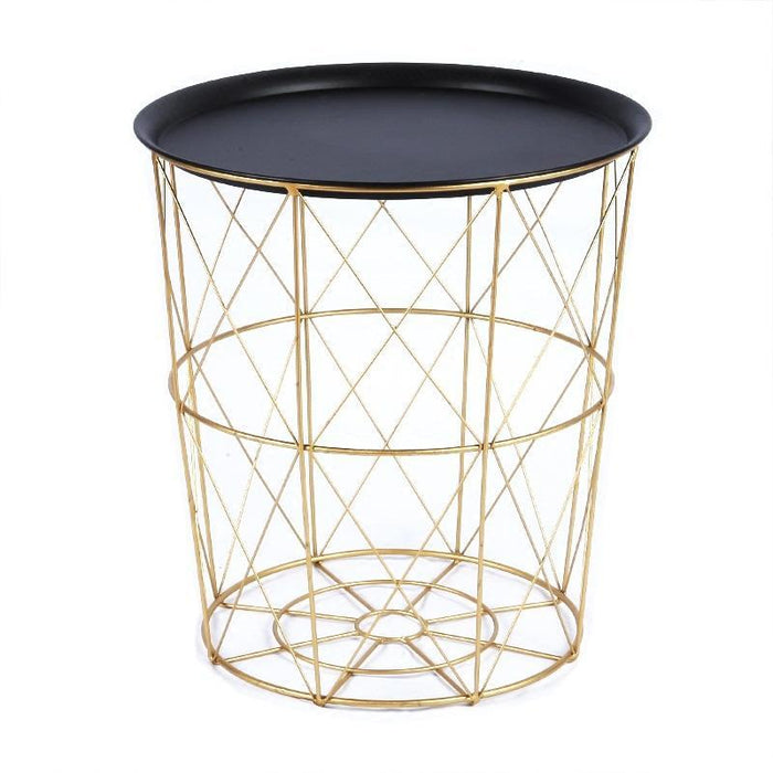 LUIS Quirky Versatile Gold Metal Frame Side Table